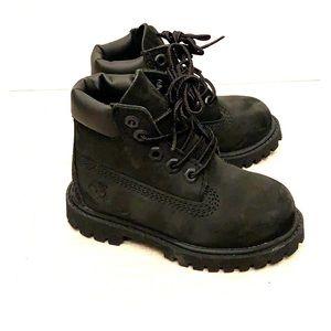 Black Timberland toddler boots